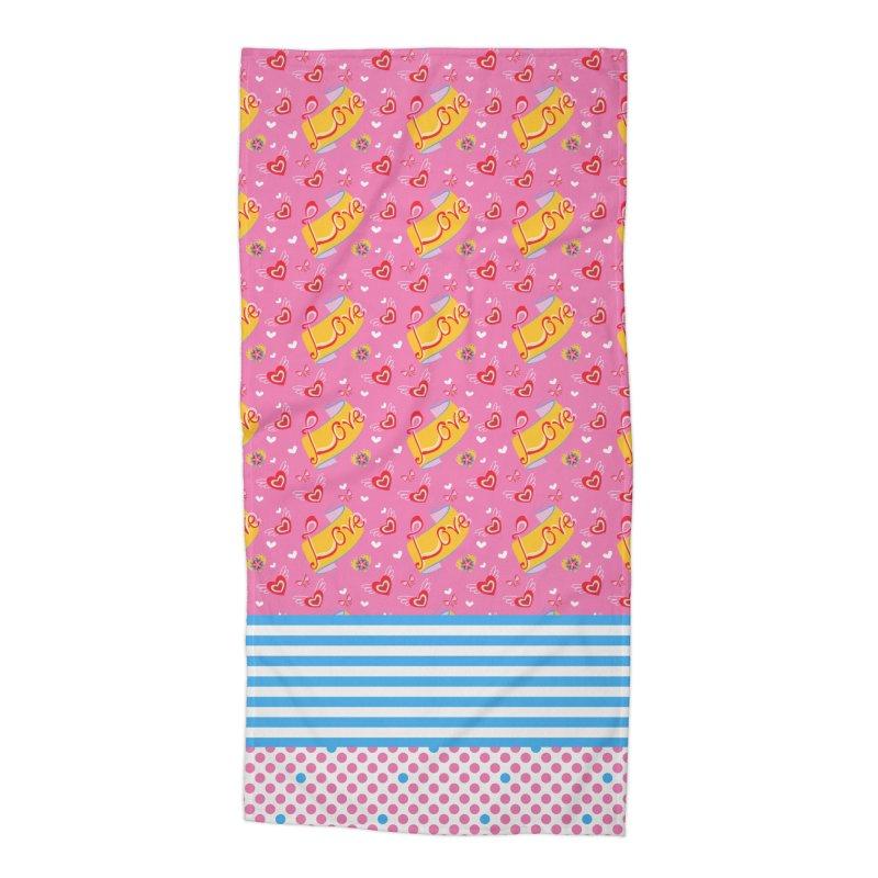 Love Accessories Beach Towel by Kreativkollektiv designs
