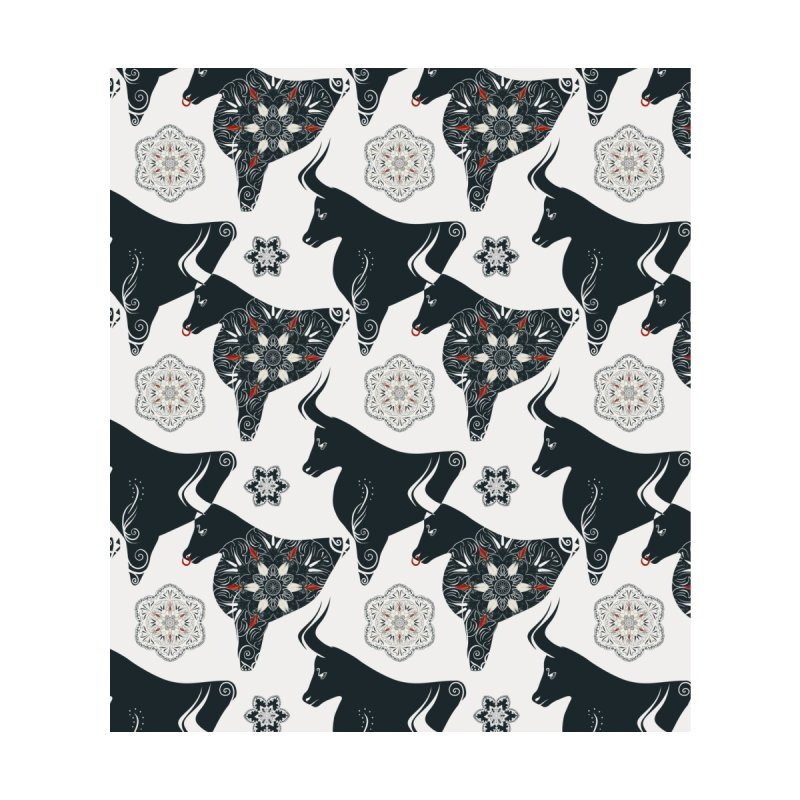 Black and white ox Men's Socks by Kreativkollektiv designs
