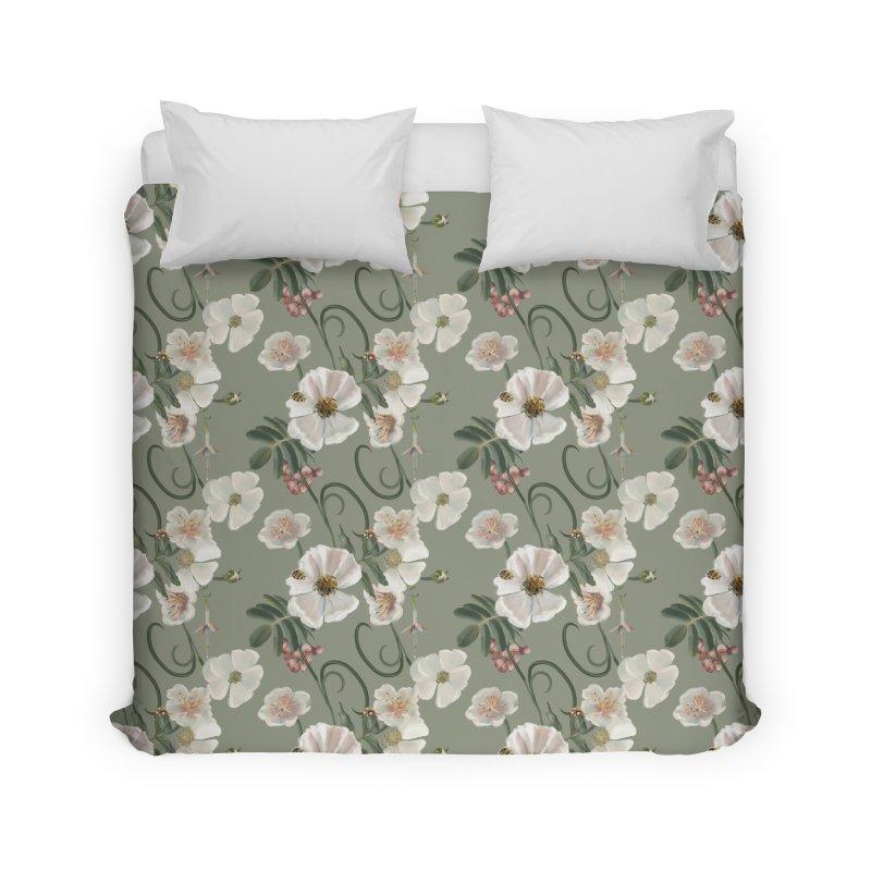 Beautiful blossoms and lady beetles Home Duvet by Kreativkollektiv designs