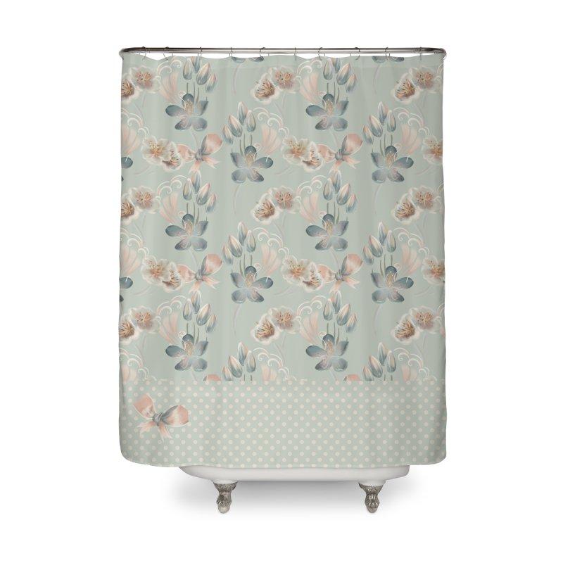 Cute spring inspired floral Home Shower Curtain by Kreativkollektiv designs