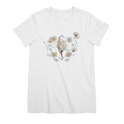 image for Rose flowers and white blossoms