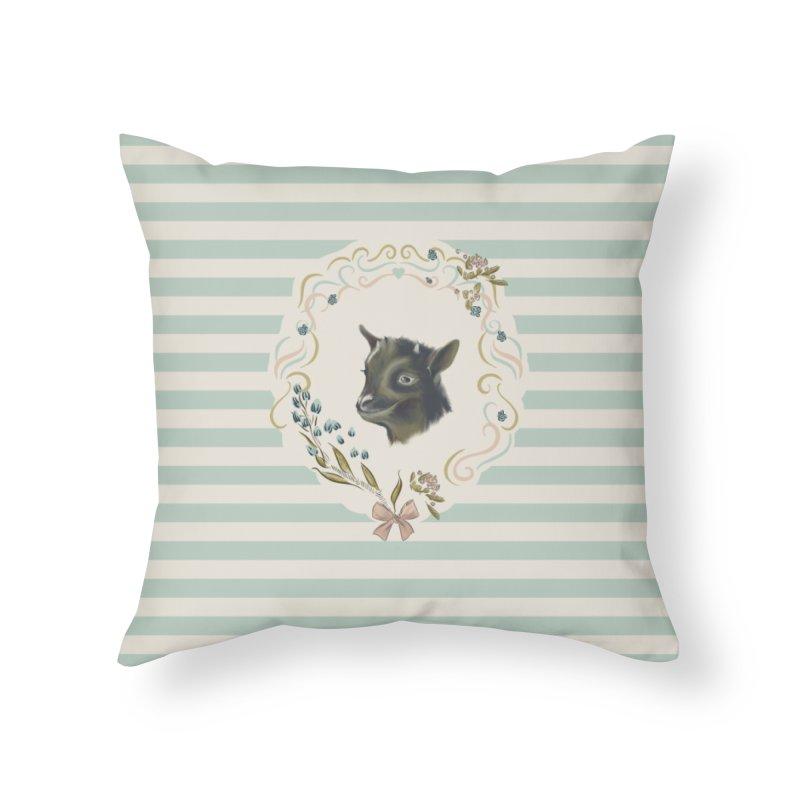Cute little goat Home Throw Pillow by Kreativkollektiv designs