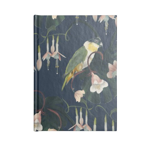image for Colorful parrots and flowers on blue background