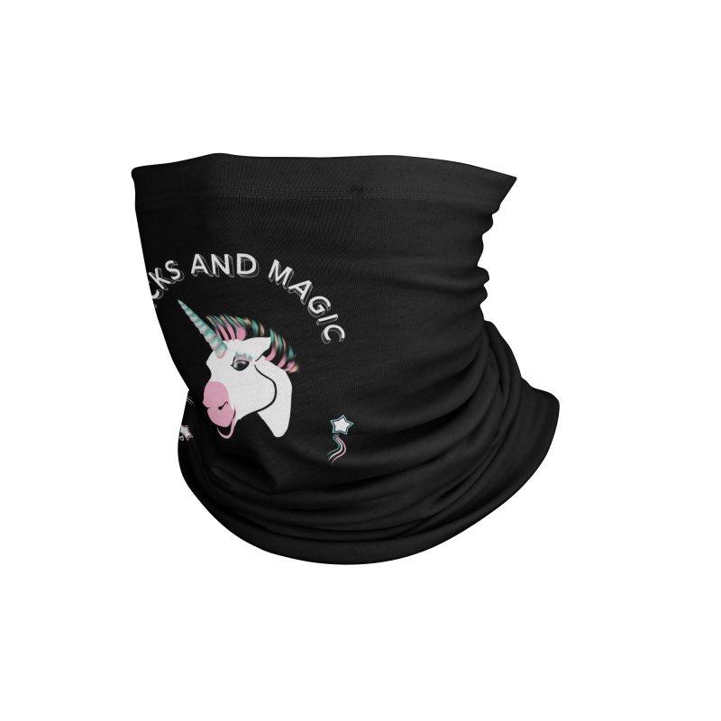 Tricks and magic unicorn Accessories Neck Gaiter by Kreativkollektiv designs