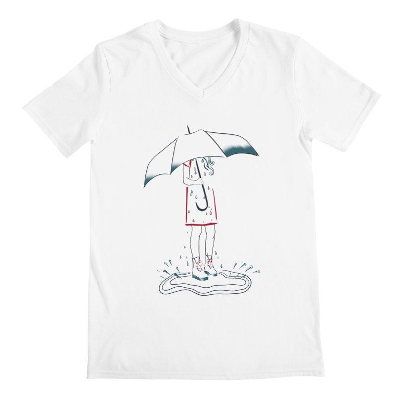 broken-hearted Men's V-Neck by KreativkDesigns Artist shop