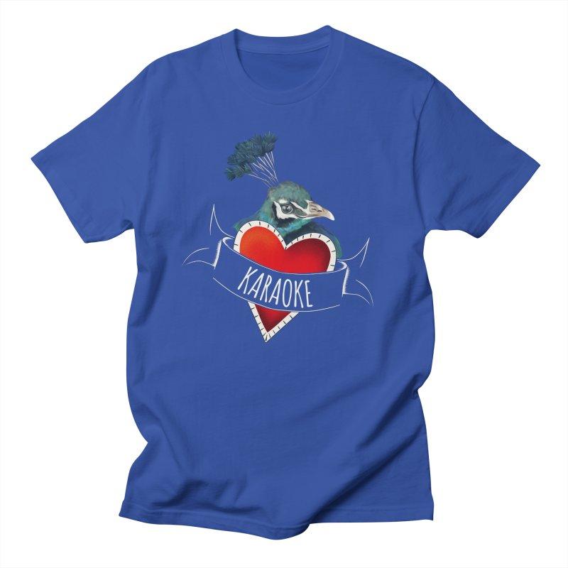 Sings like a peafowl Men's T-Shirt by KreativkDesigns Artist shop