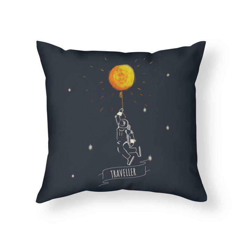 Traveller Home Throw Pillow by KreativkDesigns Artist shop