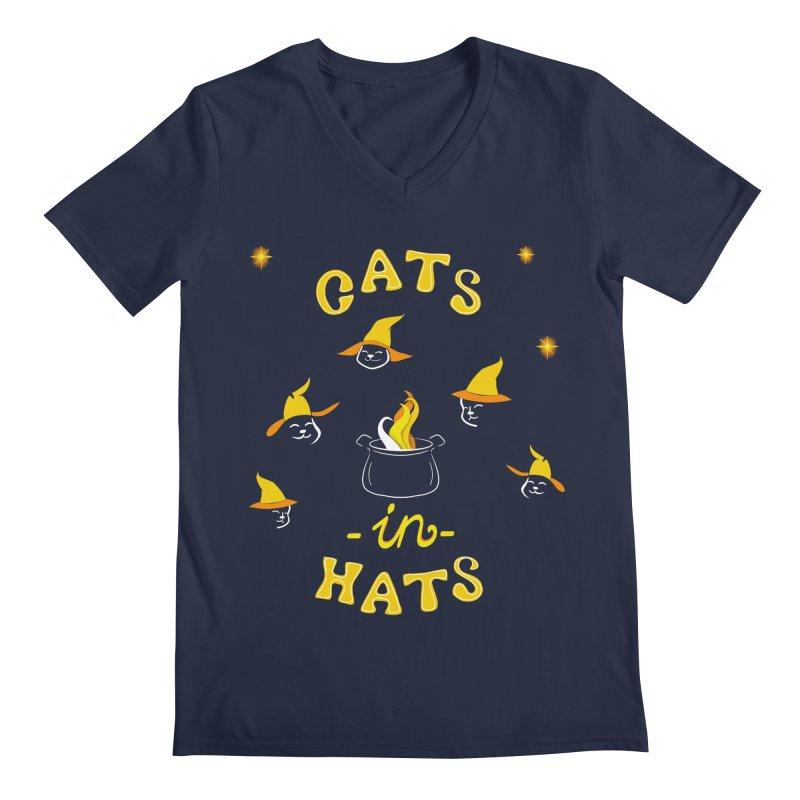 Cats in hats Men's V-Neck by Kreativkollektiv designs
