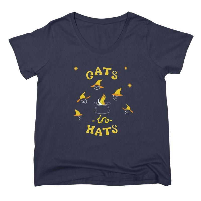 Cats in hats Women's Scoop Neck by Kreativkollektiv designs