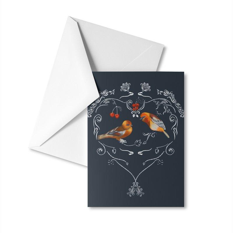 Birds in love Accessories Greeting Card by KreativkDesigns Artist shop