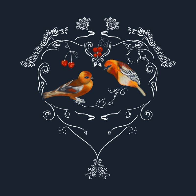 Birds in love Men's Pullover Hoody by Kreativkollektiv designs