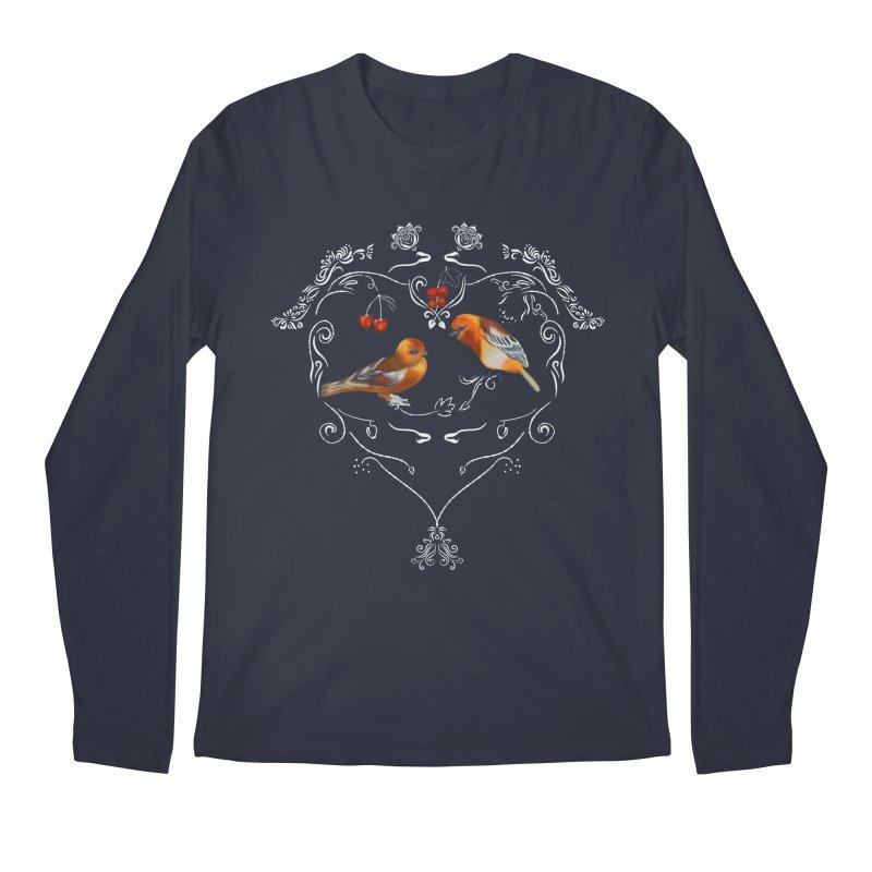 Birds in love Men's Longsleeve T-Shirt by KreativkDesigns Artist shop