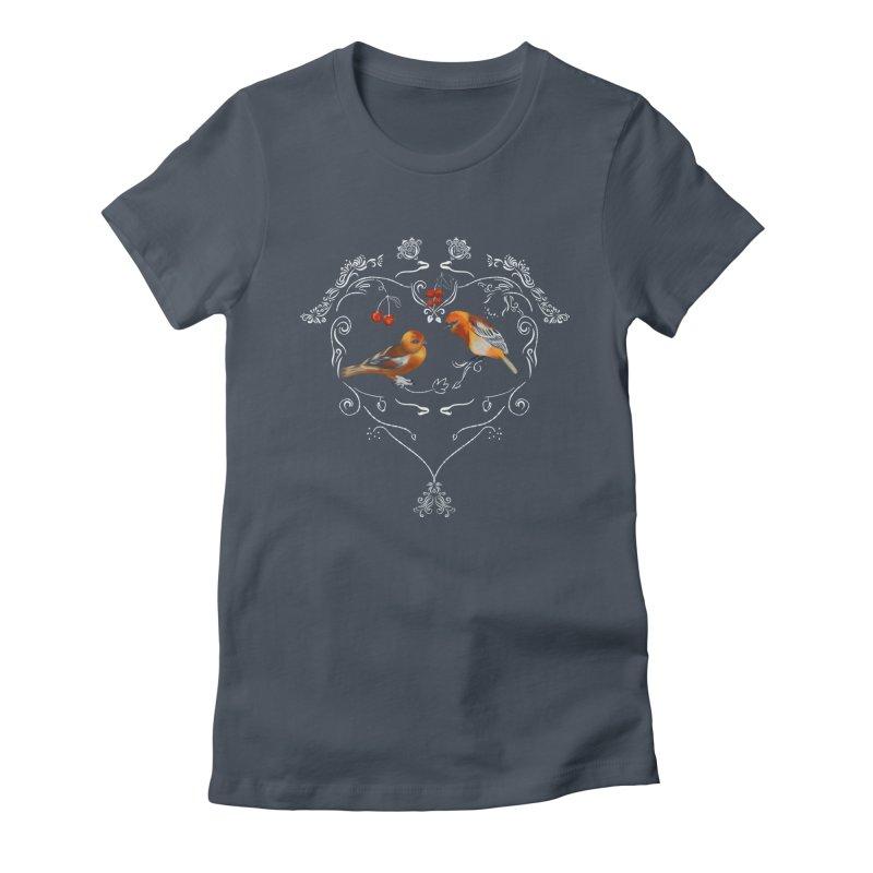 Birds in love Women's T-Shirt by Kreativkollektiv designs