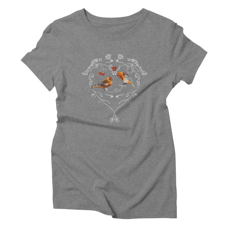 Birds in love Women's T-Shirt by KreativkDesigns Artist shop