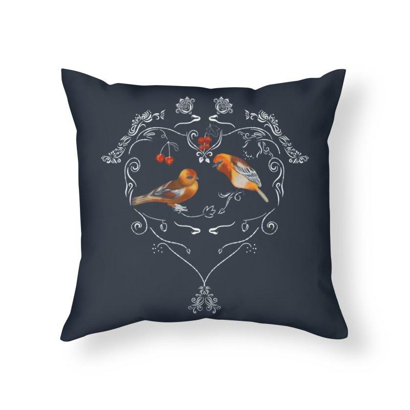 Birds in love Home Throw Pillow by Kreativkollektiv designs