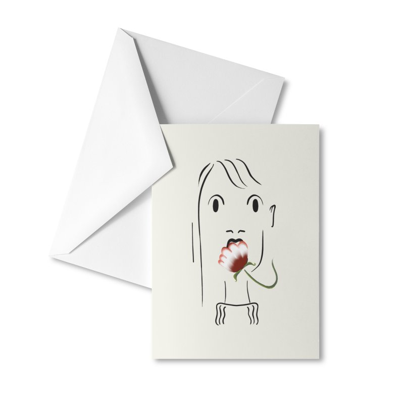 Surprised woman Accessories Greeting Card by KreativkDesigns Artist shop