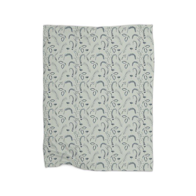 Plants on grey Home Blanket by KreativkDesigns Artist shop