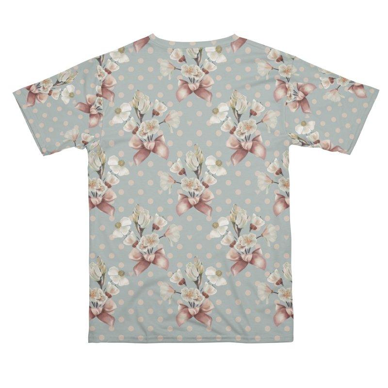 Romantic flowers and a pink bow, polka dots, hearts Women's Cut & Sew by Kreativkollektiv designs