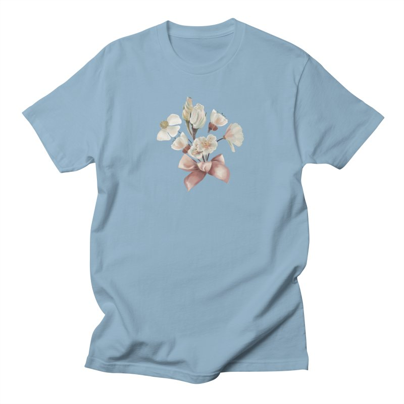 Romantic flowers and a pink bow, polka dots, hearts Women's T-Shirt by KreativkDesigns Artist shop