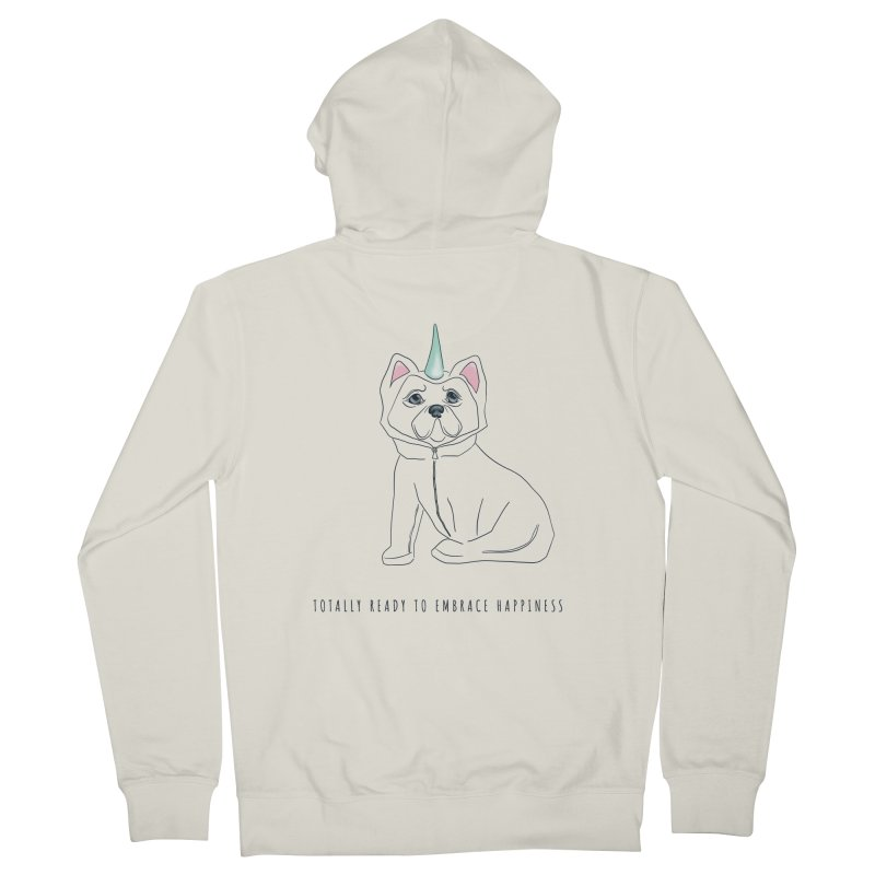 Totally ready to embrace happiness Men's Zip-Up Hoody by KreativkDesigns Artist shop