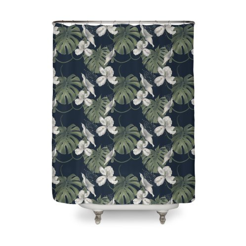 image for White flowers and monstera