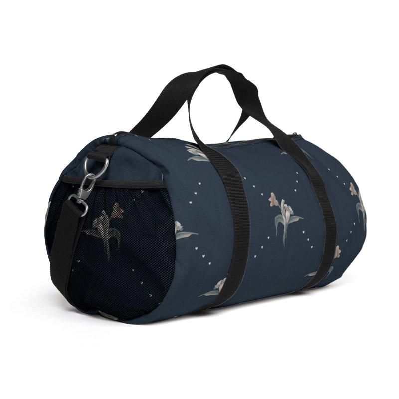 Blue flowers Accessories Bag by Kreativkollektiv designs