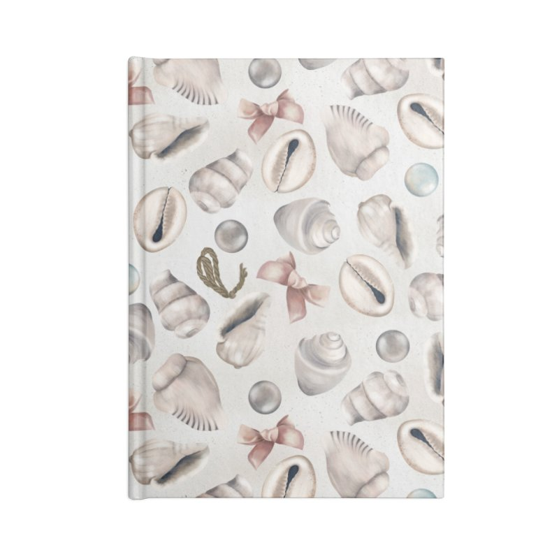 Shells, pearls and ribbons on sand Accessories Notebook by KreativkDesigns Artist shop