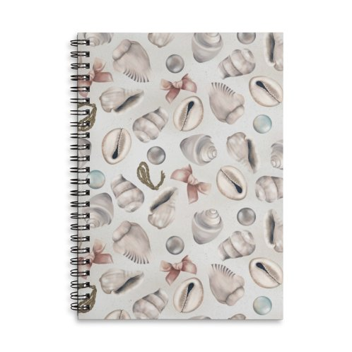 image for Shells, pearls and ribbons on sand