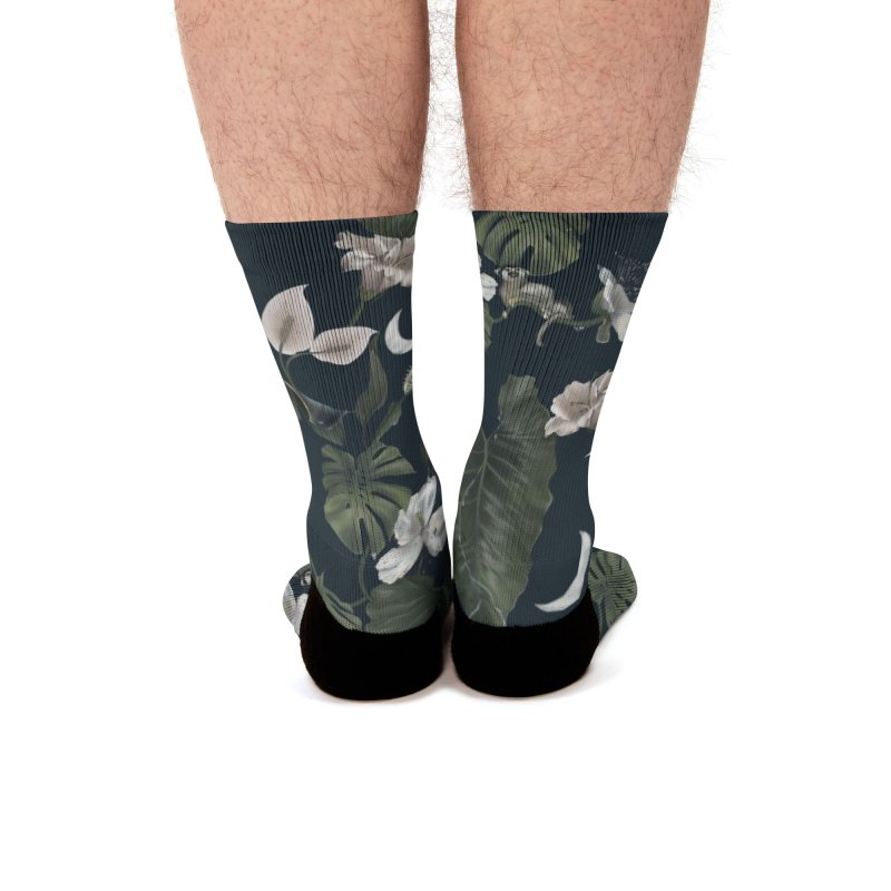 Tropical night Men's Socks by Kreativkollektiv designs
