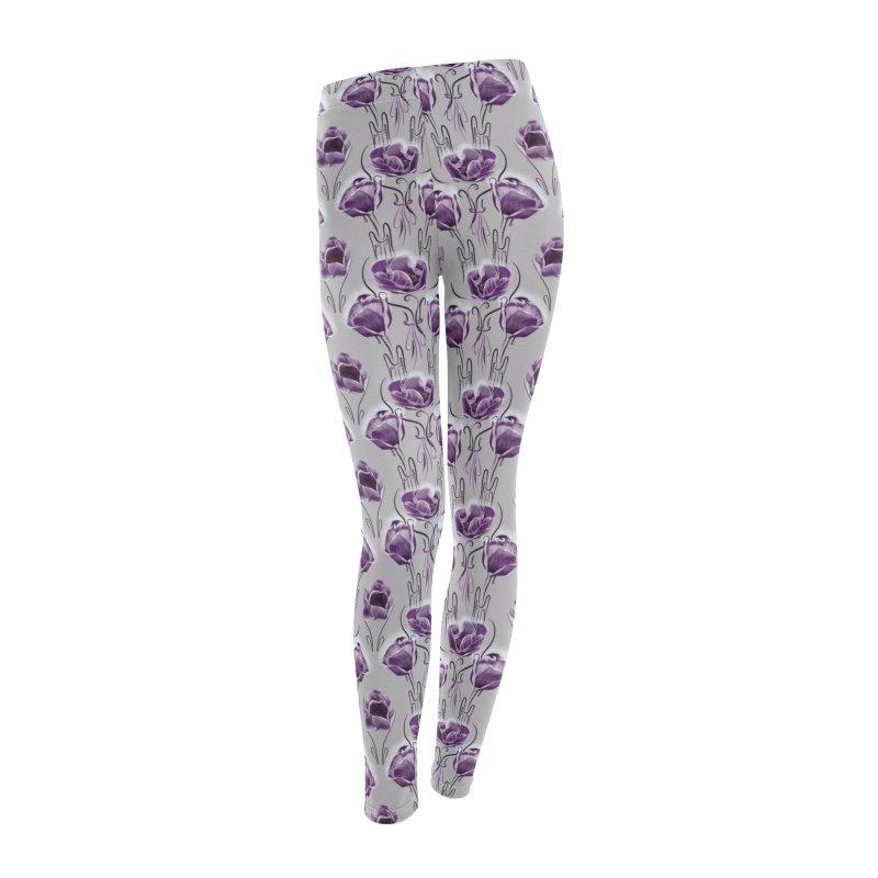 Sad purple anemones Women's Bottoms by Kreativkollektiv designs
