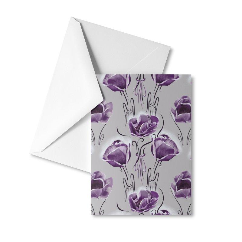 Sad purple anemones Accessories Greeting Card by Kreativkollektiv designs