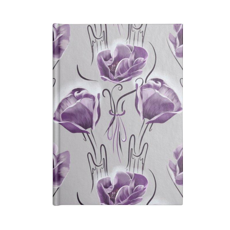 Sad purple anemones Accessories Notebook by Kreativkollektiv designs