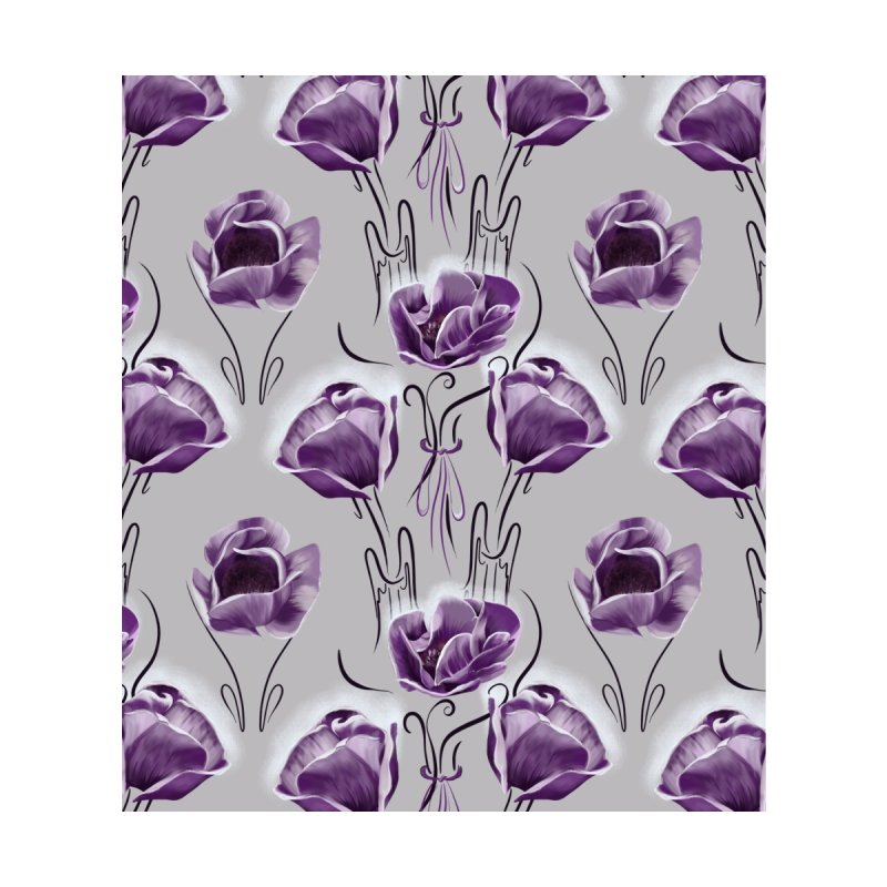 Sad purple anemones Women's Scoop Neck by KreativkDesigns Artist shop
