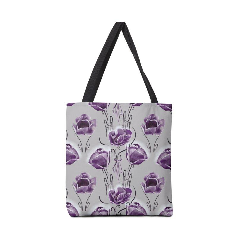 Sad purple anemones Accessories Bag by Kreativkollektiv designs