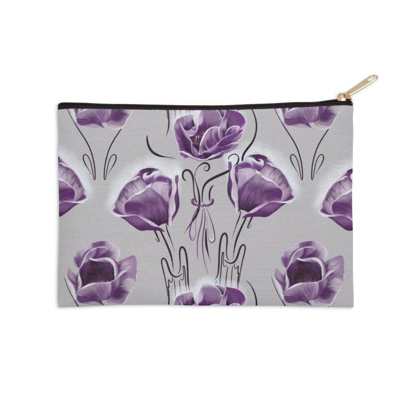 Sad purple anemones Accessories Zip Pouch by Kreativkollektiv designs