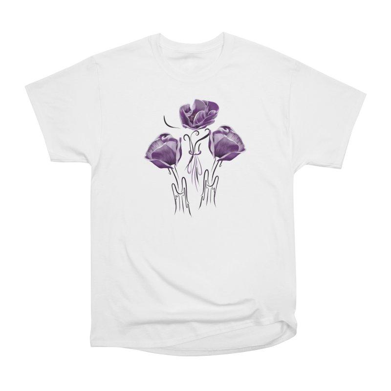 Sad purple anemones Women's T-Shirt by Kreativkollektiv designs