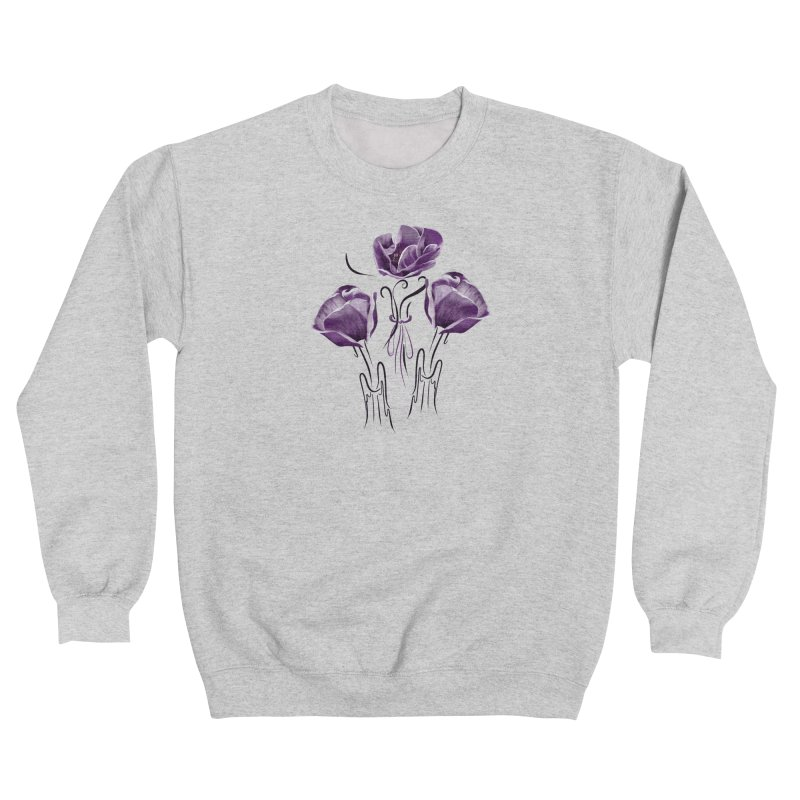Sad purple anemones Women's Sweatshirt by KreativkDesigns Artist shop