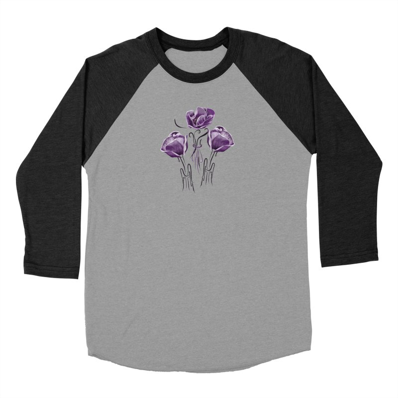 Sad purple anemones Women's Longsleeve T-Shirt by Kreativkollektiv designs