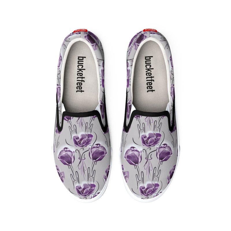 Sad purple anemones Women's Shoes by KreativkDesigns Artist shop