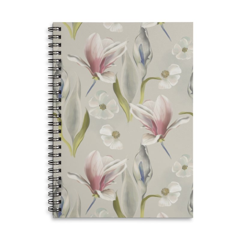 Romantic floral with pink blossoms Accessories Notebook by KreativkDesigns Artist shop