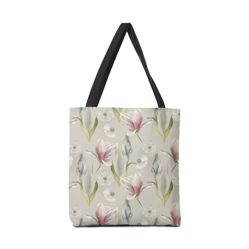 Romantic floral with pink blossoms Accessories Bag by KreativkDesigns Artist shop