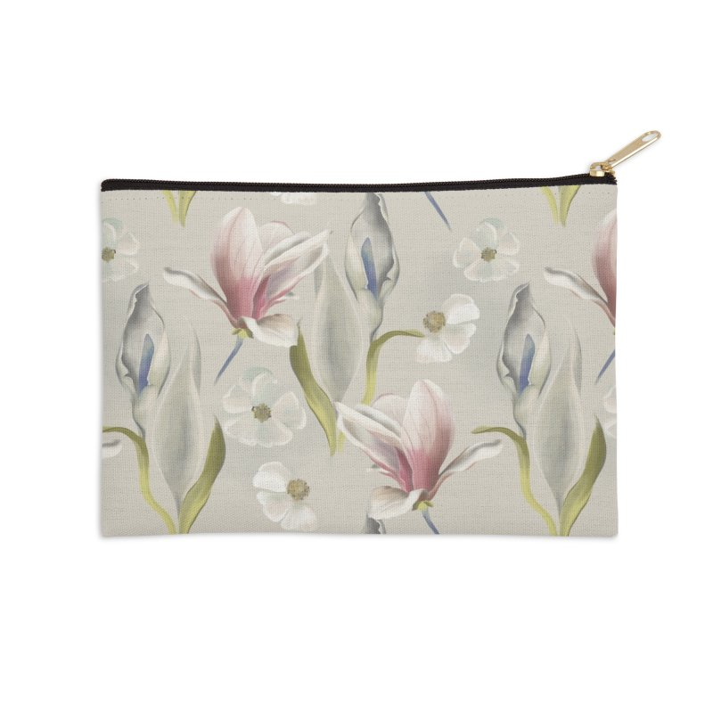 Romantic floral with pink blossoms Accessories Zip Pouch by Kreativkollektiv designs