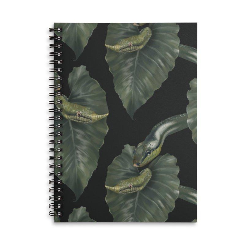 Two green snakes Accessories Notebook by Kreativkollektiv designs
