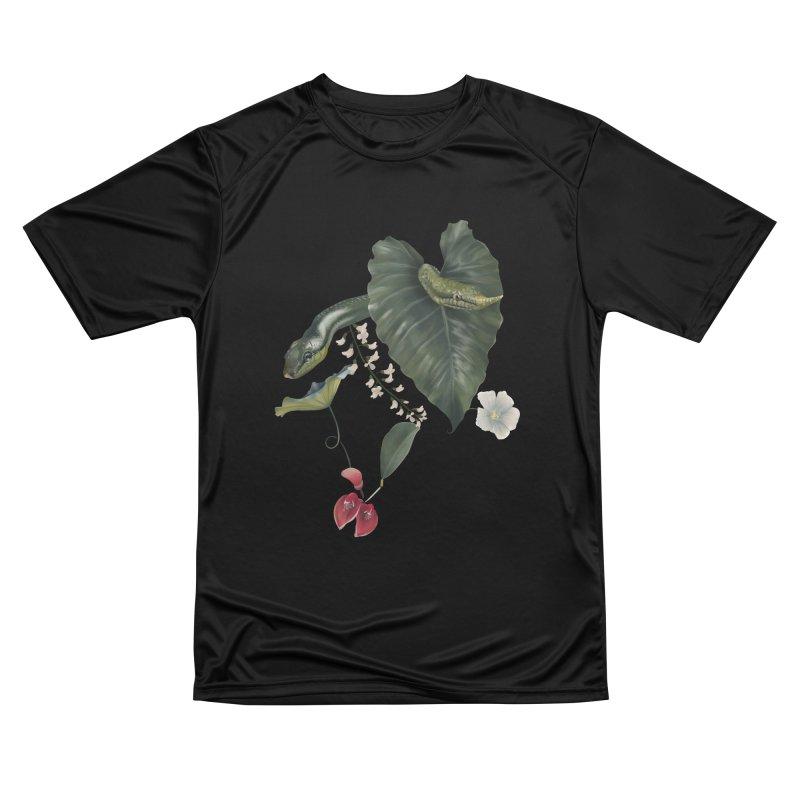 Two green snakes Women's T-Shirt by KreativkDesigns Artist shop
