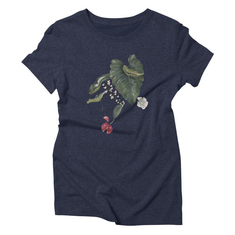 Two green snakes Women's T-Shirt by Kreativkollektiv designs