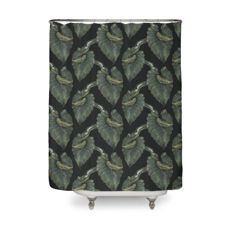 Two green snakes Home Shower Curtain by Kreativkollektiv designs