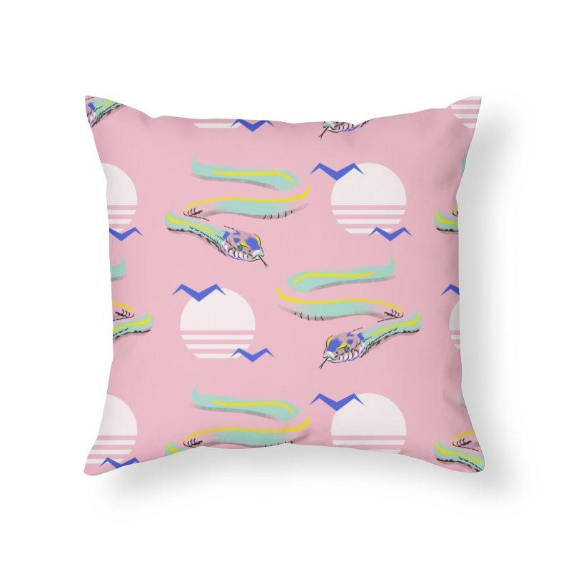 Summer snakes Home Throw Pillow by KreativkDesigns Artist shop