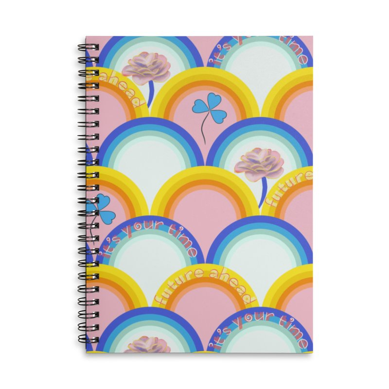 Motivational future ahead it's your time Accessories Notebook by KreativkDesigns Artist shop