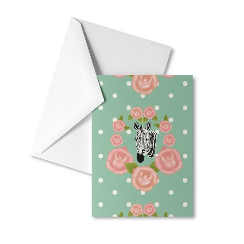 image for Zebra and roses kitschy