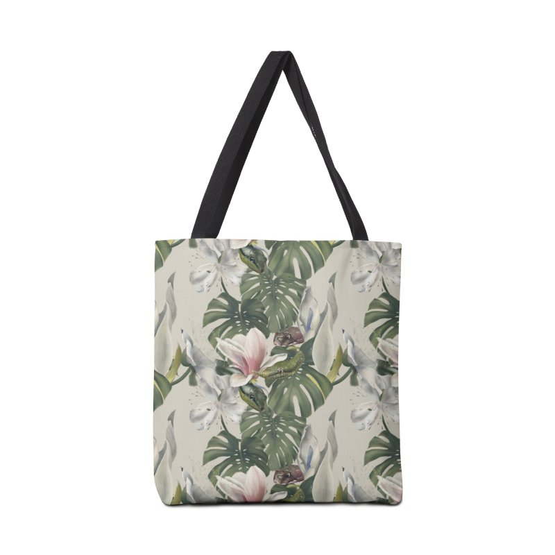 Three snakes and flowers Accessories Bag by KreativkDesigns Artist shop